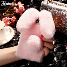 Buy AKABEILA Silicon Case BQ U Lite Cases Rabbit Hair Bling Diamond BQ Aquaris U lite Soft TPU Cute Anti-knock Cover for $5.80 in AliExpress store