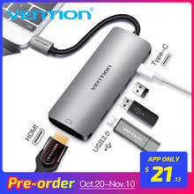 Vention USB C концентратора USB-C к HDMI Тип C PD 3 USB 3,0 Splitter адаптер для MacBook samsung Galaxy S9/S8/S8 + Коврики 10 Тип usb C концентратора(China)