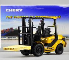 new Original 1:20 Chery forklift Alloy forklift truck model Collection model(China)