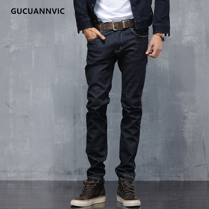 2017 new men jeans summer solid color stretch casual all-match mid-waist comfortable denim pencil pantsfashion popularÎäåæäà è àêñåññóàðû<br><br>