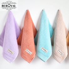 Beroyal Brand 2017 Hand Towel - 6PC/Lot 34*74cm 100% Cotton Face Towels Quick-Drying Cheap Towel Hair Salon Towel Toalha(China)