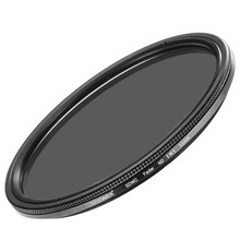 Neewer 55MM Ultra Slim ND2-ND400 Fader Neutral Density Lens Filter for Camera Lens with 55MM Filter Thread Size Optical Glass(China)
