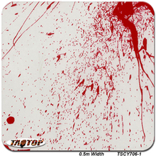 TSAUTOP TSCY706-1 0.5M*10M Blood Red Hydro Dipping Water Transfer Printing Hydro Graphics film