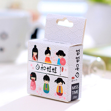 E16 5 Meters Long Kimono Japanese Girl Washi Tape Adhesive Tape DIY Scrapbooking Sticker Label Masking Tape