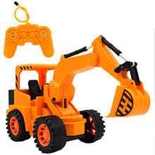 Mini RC Excavator Mini Car Toy Truck Excavator Model Engineering Vehicle Truck Toys for Kid Children Remote Control Engineering(China)