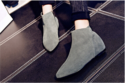 BC Women Winter Snow Black&amp;Grey Suede Round Toe Ankle Boots Shoes for Woman, botas mujer plus size 5-14<br><br>Aliexpress