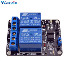 Free Shipping 5V 2 Channel Relay Module For Arduino Optocoupler Low Level Triggered 2-Way Relay Switch 10A Max 250VAC/30VDC
