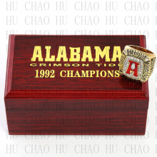 Replica 1992 Alabama Crimson Tide National Championship Ring Football Rings With High Quality Wooden Box Best Gift LUKENI