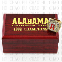 Replica 1992 Alabama Crimson Tide National Championship Ring Football Rings With High Quality Wooden Box Best Gift LUKENI(China)