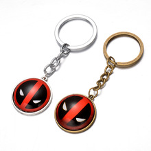 Marvel Movie Deadpool Harry Potter sailor moon top keychain toy 2017 New alloy Anime Catoon figure gemstone pendant car key ring