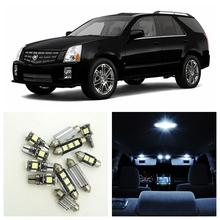 14pcs White Canbus Car LED Light Bulbs Interior Package Kit For 2004 2005 2006 2007 Cadillac SRX Map Dome License Plate Lamp
