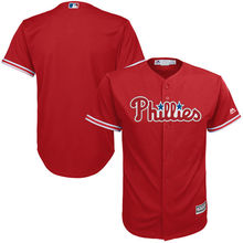 MLB Youth Philadelphia Phillies Baseball Red Alternate Cool Base Team Replica Jersey