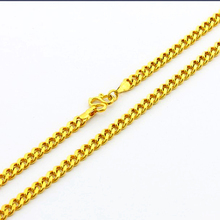 Top Quality, Wholesale Fashion men's Jewelry, 24K gold GP 5mm chain Necklace 60cm, Popular PURE GOLD COLOR men's Chains Necklace