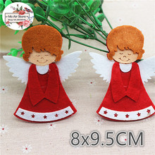 8x9.5CM 5pcs Non-woven patches Christmas Angel Felt Appliques for clothes Sewing Supplies diy craft ornament