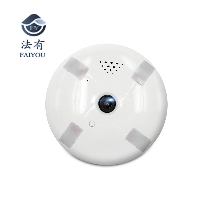 FAIYOU Panoramic 360 VR 960P 1080P 1.3MP HD IP Camera Smart LED Lights Cam Starlight night vision Bulb Home Security Camera<br>