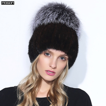 2017 Real Sale Winter Mink Fur Hat For Women Genuine Natural Pineapple Cap Russian Beanies Fashion Good Quality Thick Warm Hats(China)