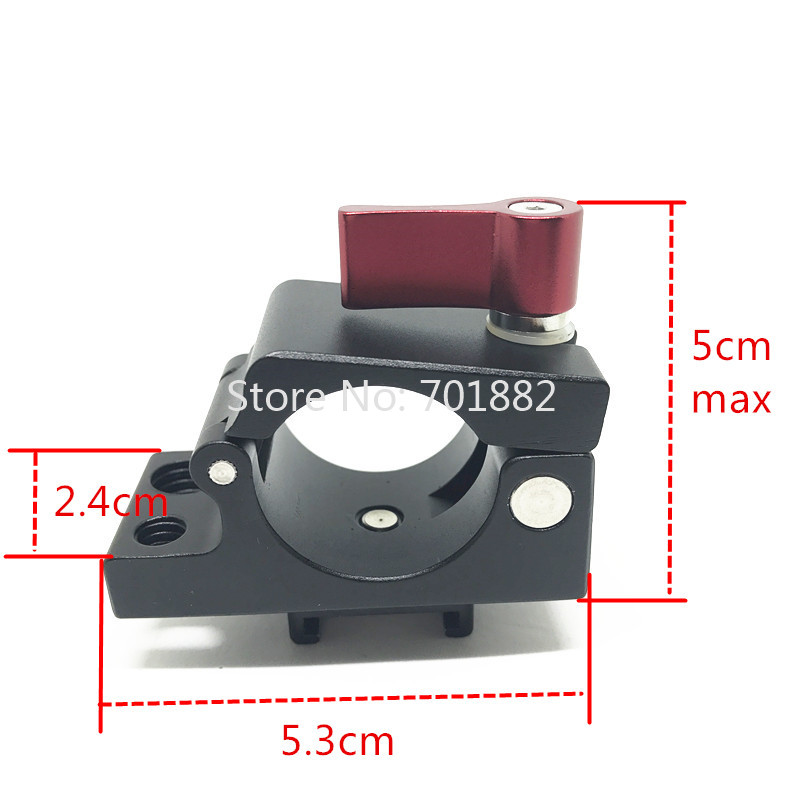 25mm Rod Clamp Holder Light Mount Stand Bracket + Hot Shoe Adapter For DJI Ronin M MX Photography Accessories Camera Stabilizer (10)