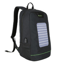 BAIBU Backpack Men Solar Energy USB Charge 15.6 inch Notebook Backpack Men Women Anti Theft Travel Bag Luminous Strip School Bag(China)