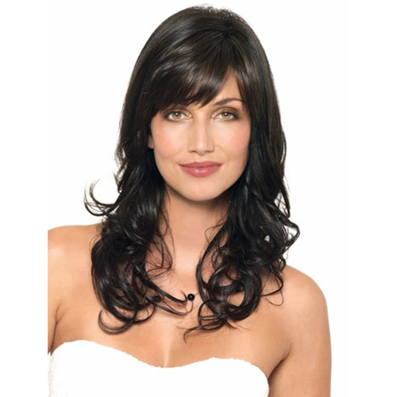 Top Quality Fashion Long Curly Hairstyle Heat Resistant Fiber Synthetic Hair Wigs For Women Free Shipping<br><br>Aliexpress