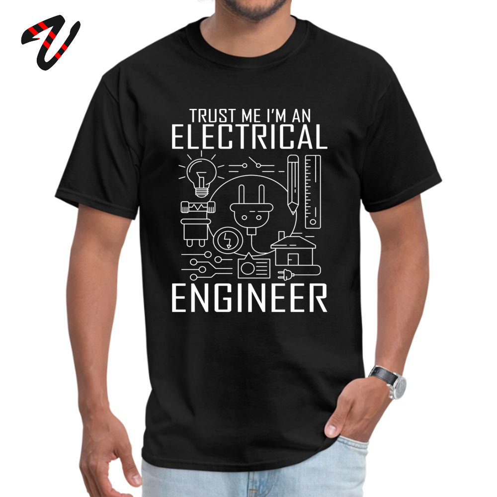 2019 Popular TrustmeIamanEngineer Printed Top T-shirts O Neck 100% Cotton Men Tops T Shirt Short Sleeve Tee Shirts Autumn 200Trust-me-I-am-an-Engineer black