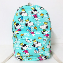 New Kawaii Snoopie Cartoon Dogs Canvas Shoulder Backpack Student Casual Bags Kids Christmas Brinquedos Gifts