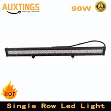 New 30inch 90W Single Row LED Work Light Bar Spot Beam for Tractor Boat OffRoad 4WD 4x4 Car Truck SUV ATV 12V 24V
