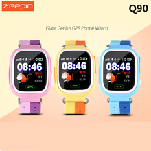 Zeepin Q90 Colorful SOS Call Location Finder GPS Safe Anti Lost Monitor Smart Touch Wrist Watch Phone For Kids PK Q50 Q100(China)