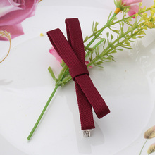 M MISM Summer Vintage Bow Women's Solid Barrettes Big Bowknot Hairpins Fashion Hair Clips Girl's Headwear Wholesale Accessories