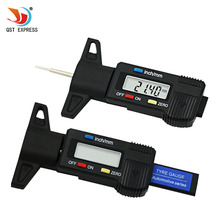 QSTEXPRESS 601 New Car Tyre Digital Tread Brake Pad Shoe Gauge Depth Tester Guage Black(China)