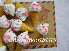 Rena!! Min.order $6 (mix order), Resin New Ice Cream for Hair Bow Center Scrapbooking Phone Deco, DIY (19*40mm), Free Shipping