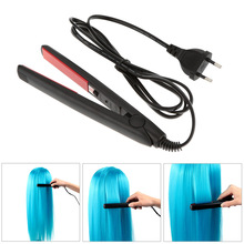 New Professional Mini Travel Ceramic Hair Straighteners Iron BLack Hair Straightener Hair Tools alisador de cabelo EU Plug