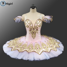 2017New girl tutu costumes for  skit dress child adult professol costume kids custom costume de pink ballet Flower Fairy BT9132F
