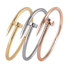 Trendy Rose Gold Silver Love Bracelet Bangle for Women Men Jewelry Plated Titanium Bracelet Pulseirass