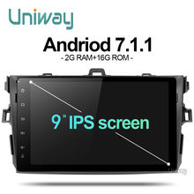 AKLL9071 uniway android 7.1 car dvd for toyota corolla 2008 2007 2009 2010 2011 car radio gps player head unit(China)