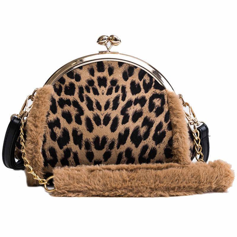 2b7c7ede907d Fashion Women Shell Bag Leopard Shoulder Bags Small Crossbody Chain Bags  For Women Evening Clutch Party