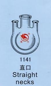 250ml 14*3 JOINT 3-neck Round Bottom STRAIGHT NECKS Flask Lab Glassware<br>