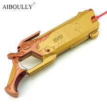 Hot product OW Reaper 14CM three color zinc alloy material shotgun (with red laser light) Give children the best gift