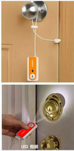 latch type  anti-theft alarm door sensor/ portable flashlight alarm travelling in self-defense door window alarm detector