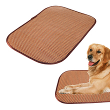 Summer Pet Dog Cat Square Mats Cooling Lovely Dog Bed Mat Rattan Keep Room Clean Pet Cushion Supplies 2017 Hot Selling