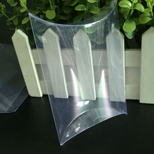 50pcs/lot-  Plastic Pillow PVC Packaging Boxes Clear  Gift Perfume Boxes Candy Box DIY Craft Packaging Box
