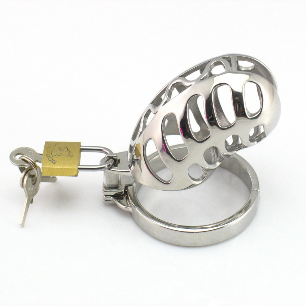 304 high quality stainless steel 85*35mm cock cage male chastity device penis lock bondage ring chastity cages devices sex toys<br>