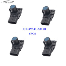 4pcs New Brand 89341-33160 Fits Toyota Lexus Reversing Sensor Wireless Front And Rear Parking Sensors Blue