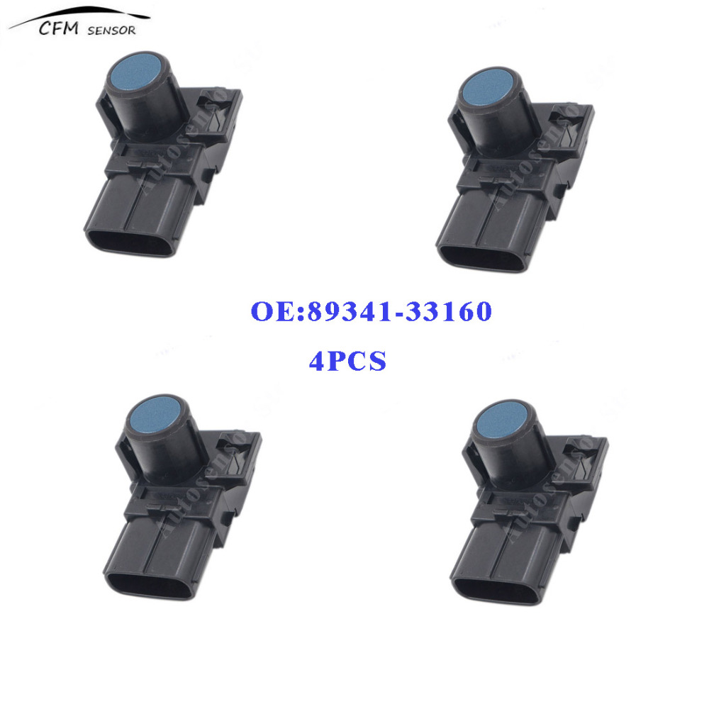 4pcs New Brand 89341-33160 Fits Toyota Lexus Reversing Sensor Wireless Front And Rear Parking Sensors Blue(China)