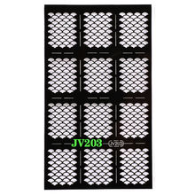 1 Sheet Pro Hollow Black Nail Art Stencils Nail Vinyls Rose Snowflake Stamping Sticker Decoration Tips