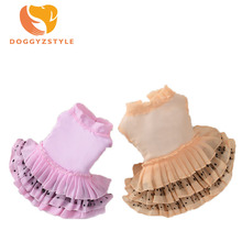 Cute Silk Dog Dress Summer Wave Point Chiffon Ladies Skirt Wedding Princess Skirts Puppy Cat Dresses Pet Apparel For Small Dogs(China)