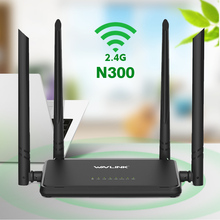 Wavlink 2.4G 300 Mbps Wireless Smart Wifi Router Repeater Access Point With 4 External Antennas WPS Button IP QoS N300 WIFI(China)
