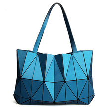 2017 Brand New Women Matte Triangle Laser BaoBao Bag Female Tote Diamond Geometry Quilted Handbag Mosaic Shoulder Bags bao bao(China)