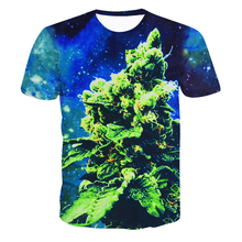 Latest Style High Quality Creative T-Shirt Men/Women BUD Coral Weed Galaxy 3D All Over Printed Tops T Shirt Free Shipping