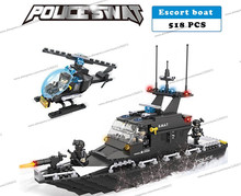 Police station SWAT Armored car jeep Military Series6511 3D Model building blocks compatible with lego city Boy Toy hobbies Gift(China)