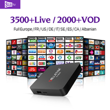 Smart IPTV Box S1 Android TV Set Top Box 1G+8G Media Player with HD IPTV Europe Arabic IUDTV QHDTV Subscription 1 year French UK